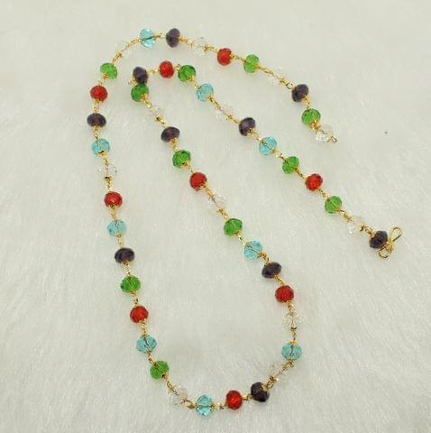 Crystal Faceted Beaded Mala Multicolor