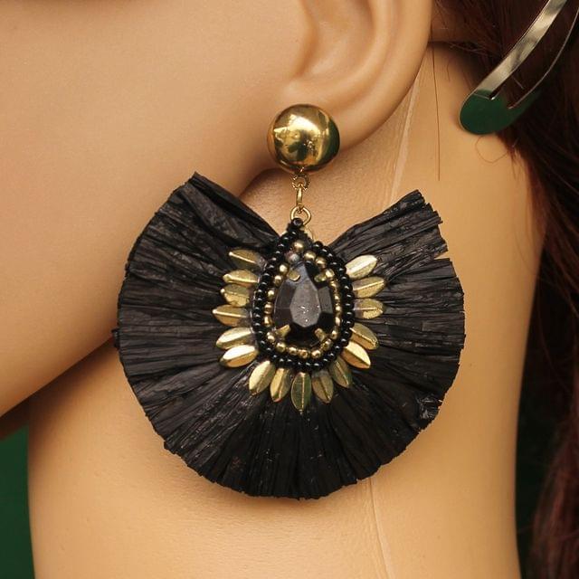 Designer Raffia Earring