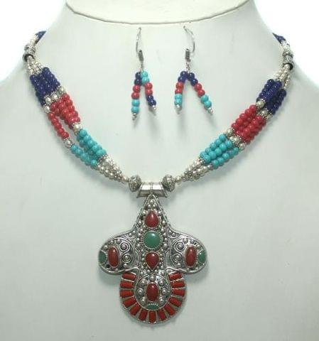 TIbetan Necklace Set Multi color