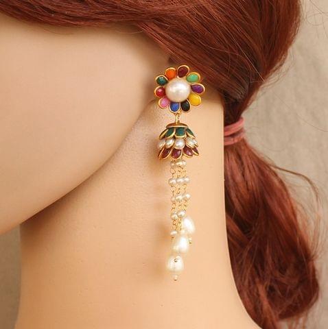 Designer Beaded Pearl Pacchi Earring