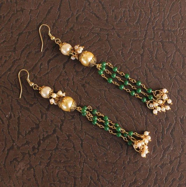 Designer Beaded Pearl Earring
