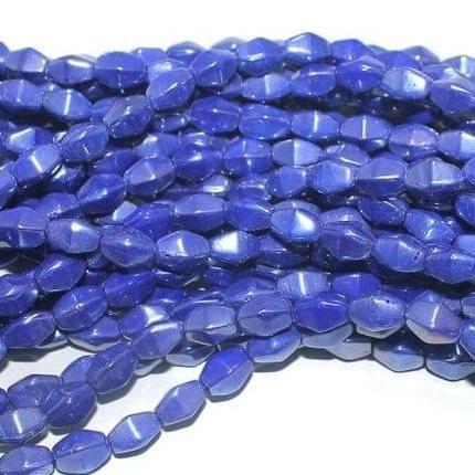 Blue Luster glass Diamond beads 10x6mm 12 Strings