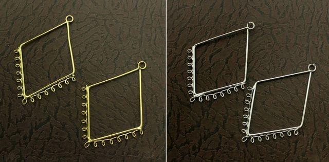 5 Pairs Metal Earrings Components Diamond 2.5 Inch