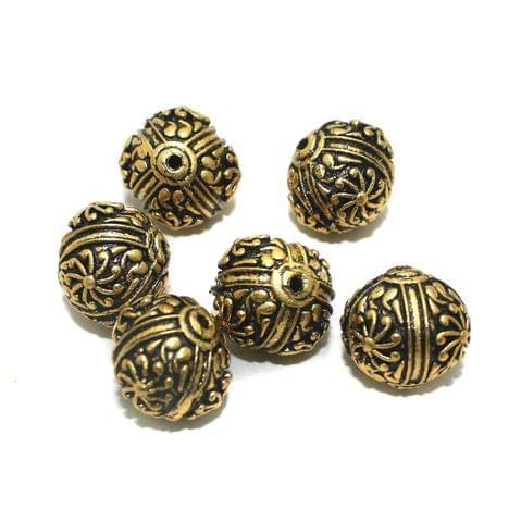 10 Pcs Golden German Silver Beads 18x18mm