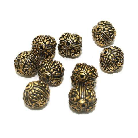 20 Pcs Golden German Silver Beads 15x14mm