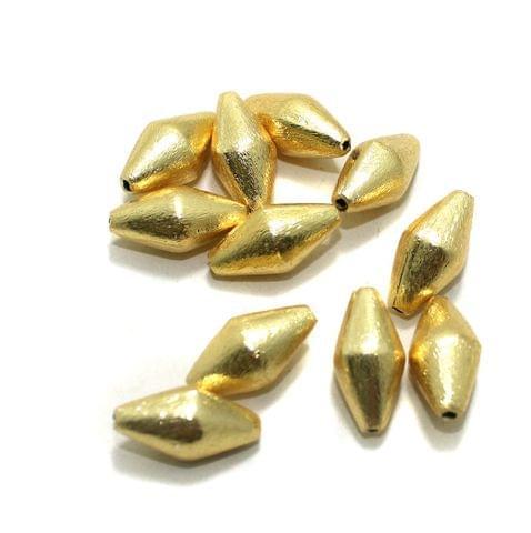 20 Pcs Golden German Silver Beads 20x10mm