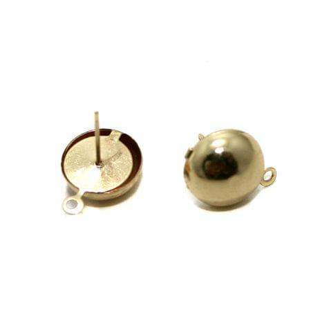 Rose Gold Earrings Components Studs 5 Pairs 12mm