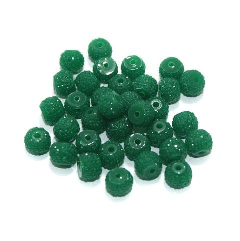100 Pcs Acrylic Sugar Beads 7x8mm Green