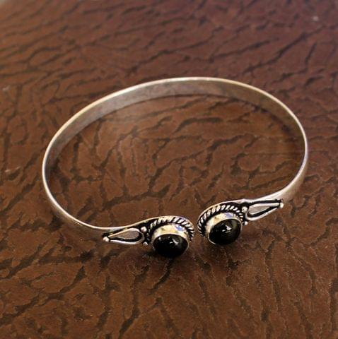 German Silver Adjustable Stone Bracelets Black