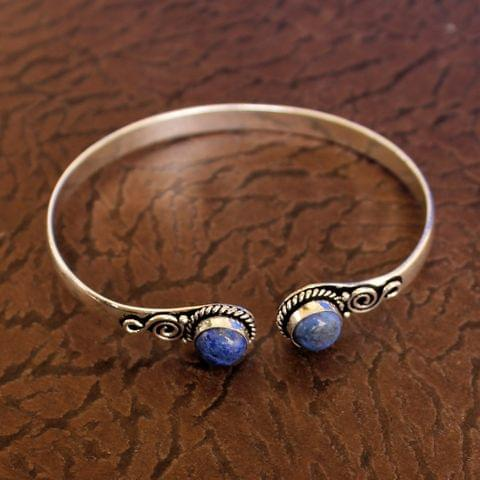 German Silver Adjustable Stone Bracelets Blue