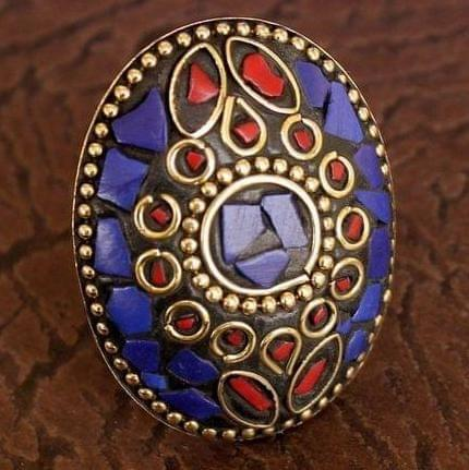 Designer Tibetan Finger Rings Multicolor