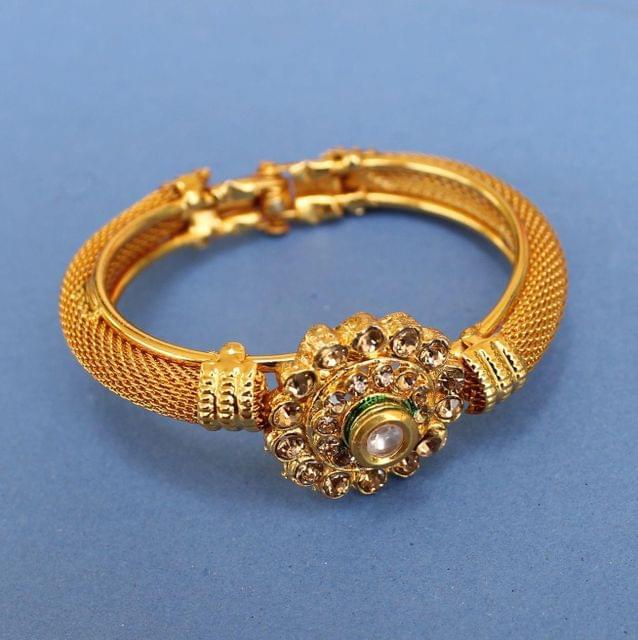 Gold Plated Kundan Kada