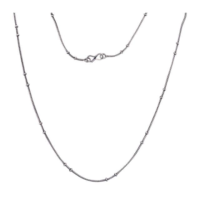 1 Pc German Silver Unisex Chain Silver