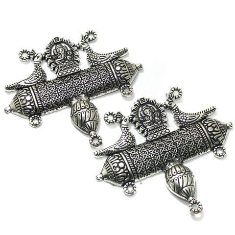 2 Pcs German Silver 69x79mm Pendants