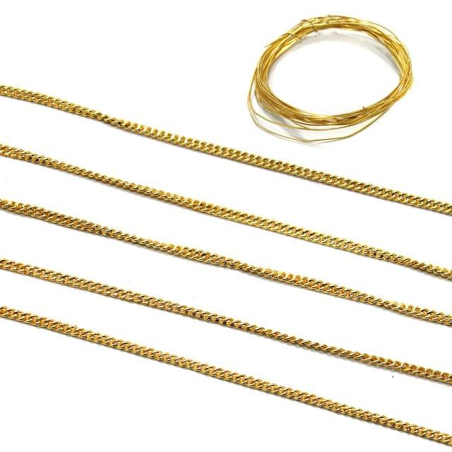 10 Mtr Golden Chain 1mm With 2 Mtr Wire