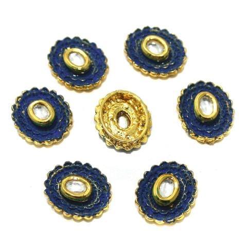 10 Pcs Kundan Connectors 19x16mm Golden