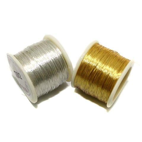 50 Mtr Zari Thread Combo Golden & Silver