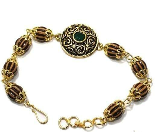 Gold Plated Kundan Bracelet 1Pc