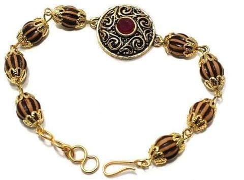 Gold Plated Kundan Bracelet 1Pc