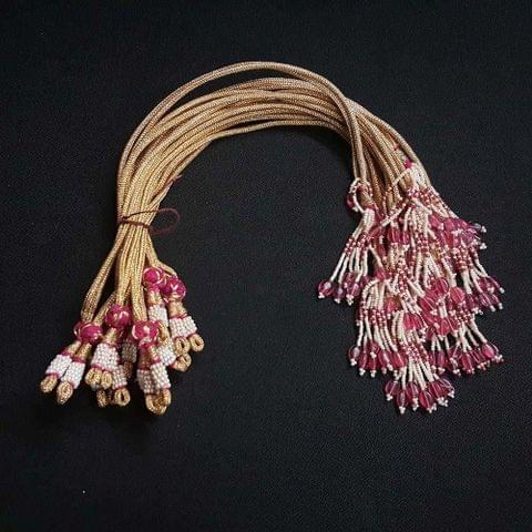 1 Dozen, 12 Inch Pink Colour Necklace Dori (Sarafa)