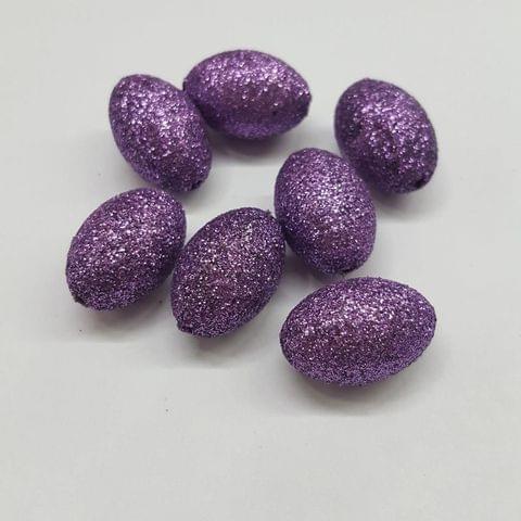 Purple, Zari Ball 14 x 21 mm, 50 Pieces