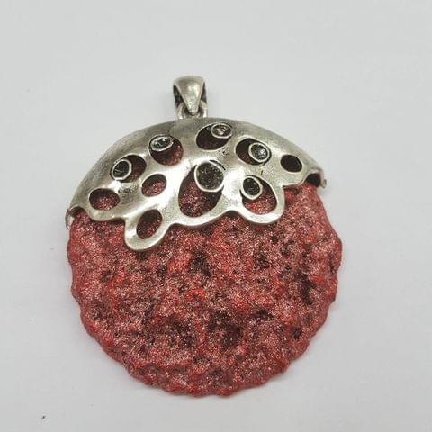 Red Colored Round Pendant
