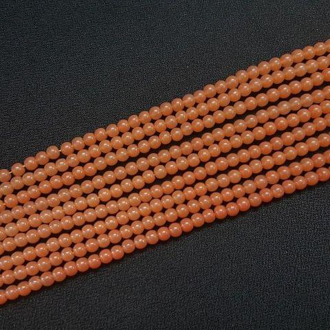 10 Lines, 4 mm Light Brown Color Glass Beads For Jewellery Making/ 16 Inch/ 101+ Beads in Each String