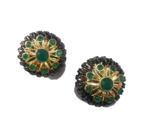 24 mm, Green Antique Piece, 1 pair