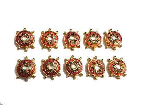 10 pcs Red Color Round Shape Spacers 27x20mm