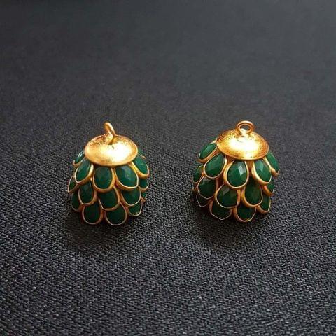 Green, Pacchi Jhumka 16mm, 2 Pair