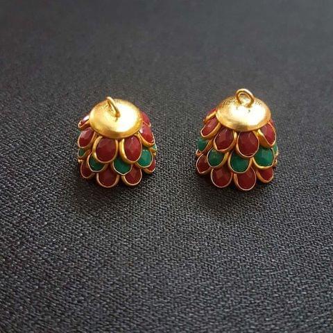Red Green, Pacchi Jhumka 16mm, 2 Pair