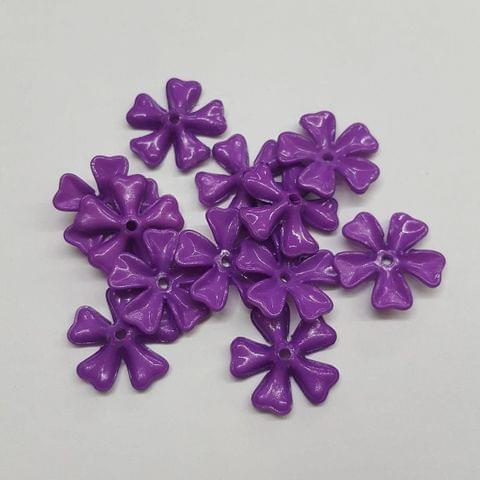 Purple, Acrylic Flower 11mm, 100 pcs