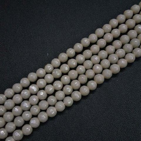 8mm Dark Grey Jade Faceted Beads, 2 Strings, 43+ Beads In Each String