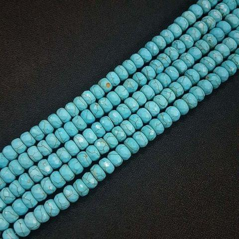 8mm, Turquoise Jade Stone Strings, Pack Of 2 Lines, 15 Inches ( 72+ beads )
