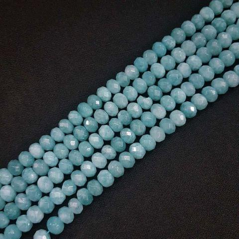 8mm, Blue Jade Stone Strings, Pack Of 2 Lines, 15 Inches ( 72+ beads )