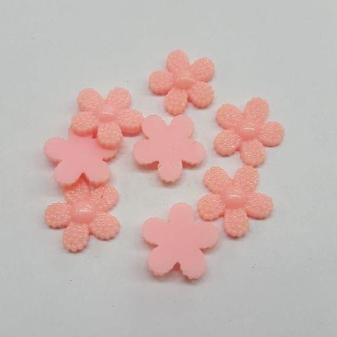 Baby Pink, Acrylic Flower 12mm, 100 pcs