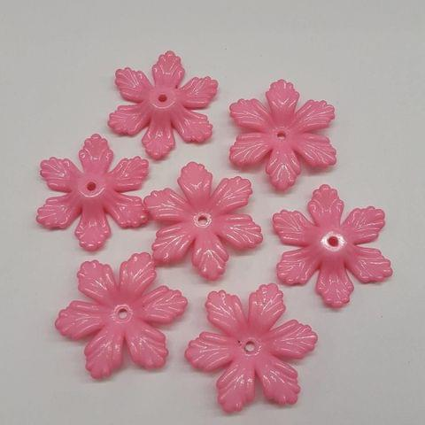 Pink, Acrylic Flower 28mm, 100 Pieces