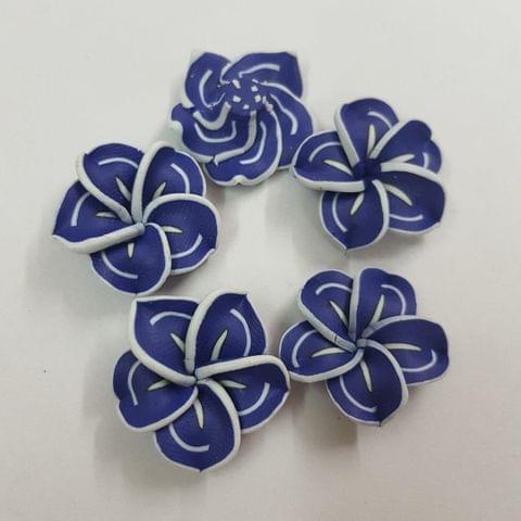 Dark Blue, Rubber Flowers 20mm