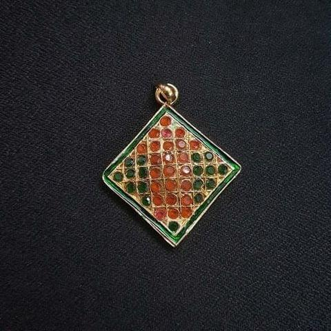 1 pc Jadau work Jewellery Pendant, 26mm