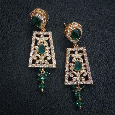 Green Designer Earrings For Girls / Women
