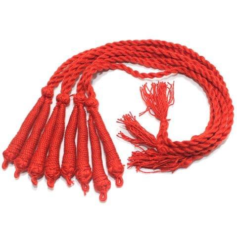 4 Pcs Thread Necklace Dori Red 15 Inch