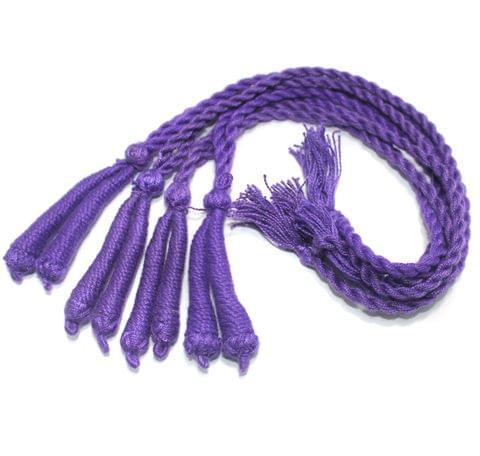 4 Pcs Thread Necklace Dori Purple 15 inch