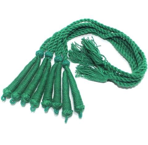 4 Pcs Thread Necklace Dori Green 15 inch