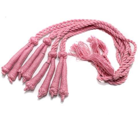 4 Pcs Thread Necklace Dori Pink 15 inch