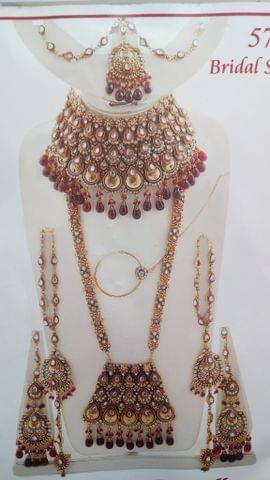 Bridal Wedding Designer Jewellry Set Earrings 8 Pcs Indian Bollywood