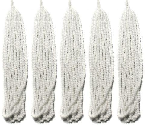 5 Bunch of Preciosa Seed Bead Strings 11/0 Opaque White