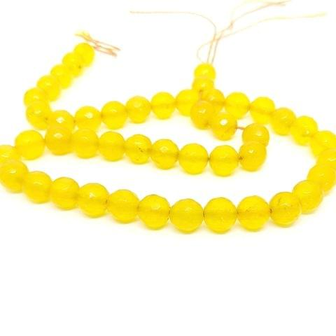 YELLOW Agate beads 8 mm agates