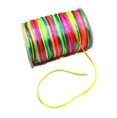 100 Mtr Multicolored Satin Thread Spool 2 mm