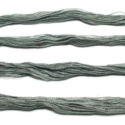 5 Bunch Colored Cotton Threads Grey