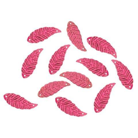 Buy 1 get 1 free Foppish Mart Pink Leaf  Acrylic Sequins/ Stitch ons /Beads - 100 Pcs